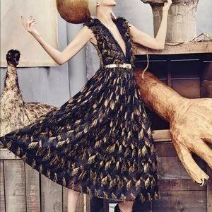 Dolce & Gabbana runway metallic fringe dress